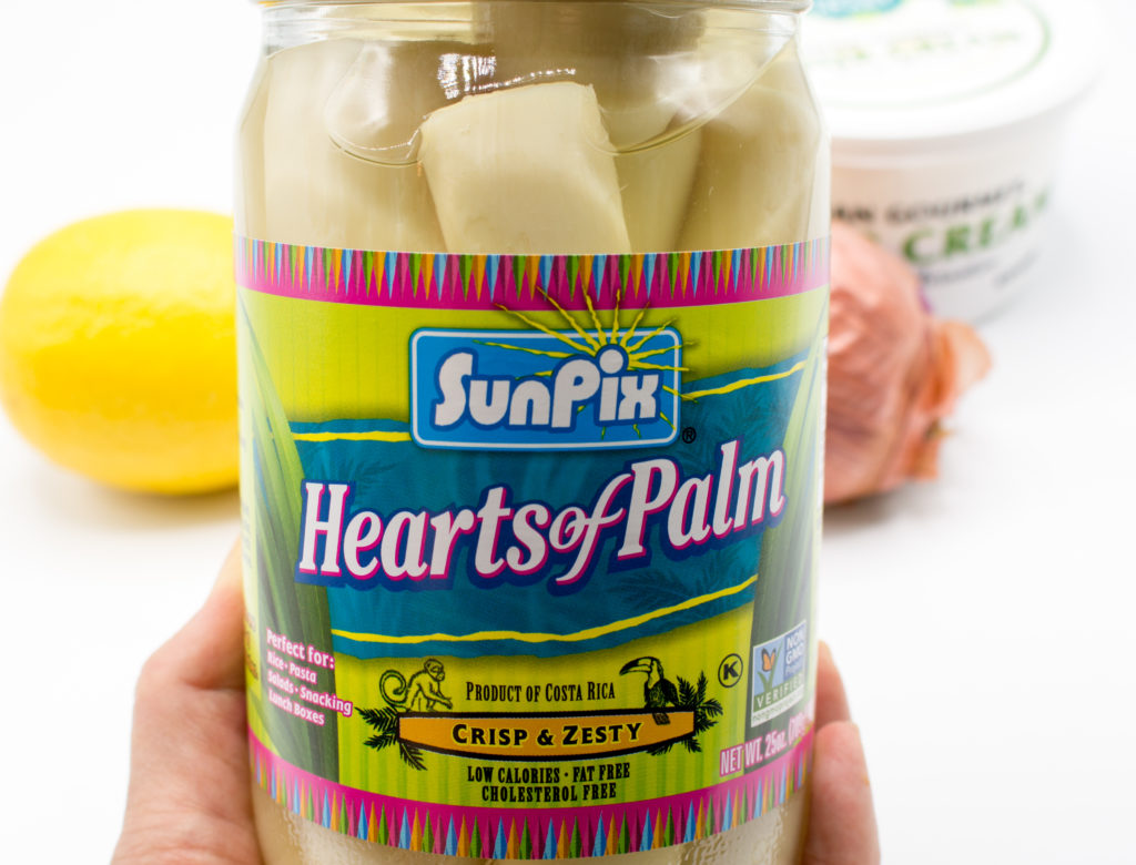 Jar of hearts of palm