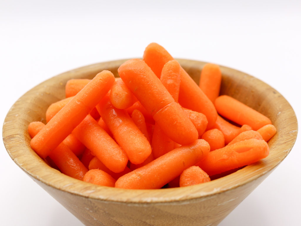 Cooked carrots for vegan mac and cheese sauce